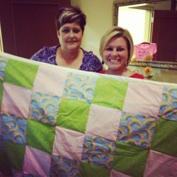 The prayer quilt that Woodlawn Baptist Church presented me with