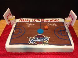 Cavaliers Birthday Cake for Twins