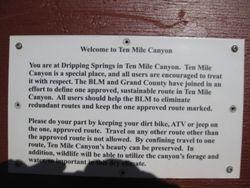 10 Mile Canyon trailhead