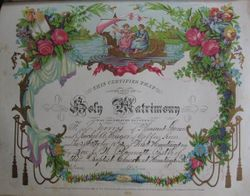 Marriage Certificate for Thomas Lucas Norris and Rachel Anzoetta Krieger