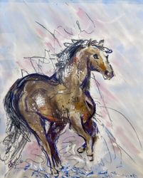 Horse in Storm