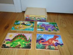 Melissa & Doug Wooden Jigsaw Puzzles in a Box - Dinosaurs - $5
