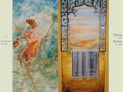 """mural """"pompaian girl"""" & """"Petra"""" private commissions"""