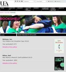 UEA Alumni bookshelf
