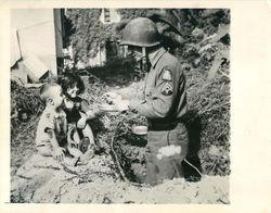 5th Army Soldier and boy in Italy: