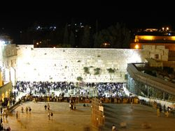 Wailing Wall on Shavout