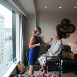 Sky city wedding makeup