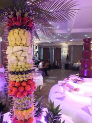 washingborough hall hotel chcoclate fountain and fruit palm tree