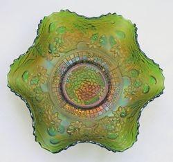 Orange Tree, ruffled bowl,  green