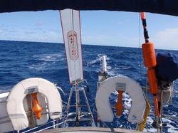 Monty steering broad reaching across Biscay - 2009