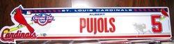 Albert Pujols 2008 Opening Day Locker Plate