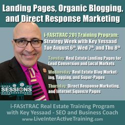 Week of August 6th Sessions: Landing Pages, Organic Blogging, and Direct Response Marketing - #LiveTrainingRE