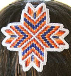 Bead Embroidered Barrette Close up