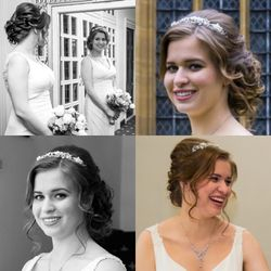 Soft elegant updo and Airbrush makeup for our beautiful Bride Abby
