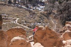 Lynda at  Bandalier National Monument NM