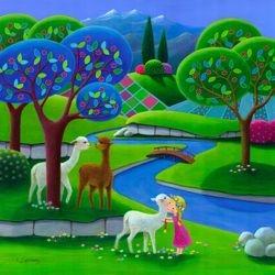 Little Anjana and Alpacas