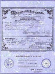 Philip DeSkeere & Lydia Fisher Marriage License