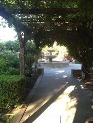 Beautiful walk way to the fountain