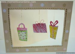 Three Hanging Gifts Card