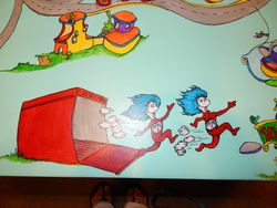 Hand Painted Dr Seuss Children's Table