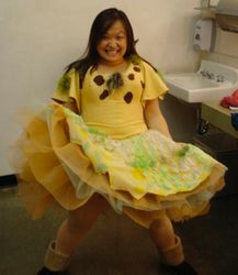 Fun with Papagena Tutu in the dressing room!