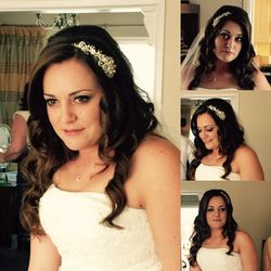 Mel chose the Hollywood soft curls for her wedding day
