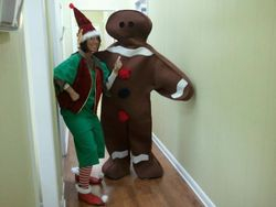 Elf & Gingerbread Man