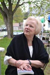 Author Gloria Waldron Hukle at Warrensburg