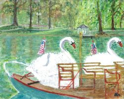 Historic Swan Boats - Boston Public Garden, Boston