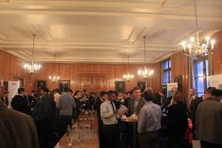 Delegates and faculty socialising in the break