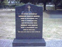 South African granite ogee top headstone