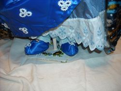 Shoes of quilted satin