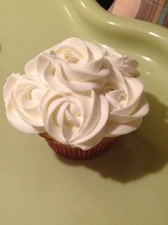 Strawberry Filled Cupcakes with Fresh Cream Frosting