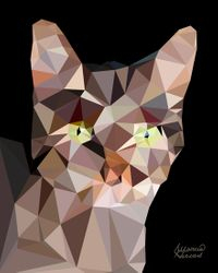 """Cat"" - Low Poly Art"