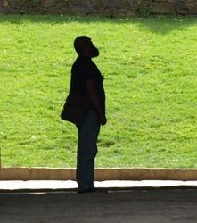 Clive in silhouette