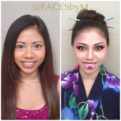 Geisha (non-traditional) Before and After