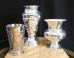 Silver Ceramic Vases