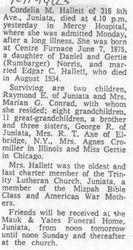Hallett, Cordelia Norris 1963