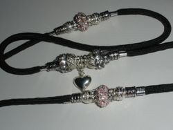 Black with Silver Heart!