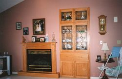 CUSTOM MANTLE AND WALL CABINET