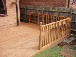 Patio replaced by decking
