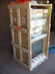 Biopharm hood in crate