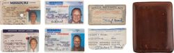 STAN MUSIAL's OWN MISSOURI DRIVERS LICENSE Exp:1988