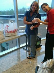 Brittney & Jessica grab some yummy Chick-Fil-A