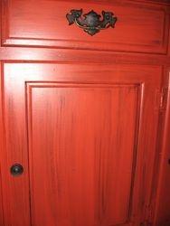 Close-up on cabinet door