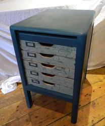 Crackle painted drawers