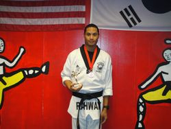 04-01-2012 Yong In Championship Quan Gordon 3rd pl Forms 1st pl Weapons