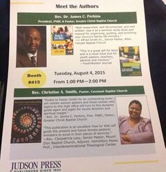 Judson Press Books Signing Flyer