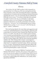 CCVHOF  History