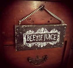 Beetlejuice plaque
